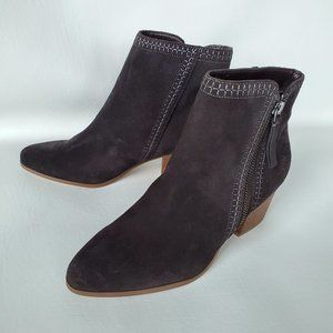 Sole Society Ankle Boots Suede dark gray 7.5